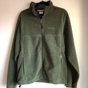 Columbia green fleece - M